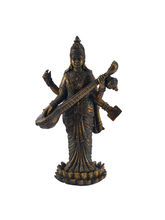Beautiful & Unique Saraswati Idol Showpiece, Gold