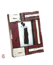 Aapno Rajasthan White And Red Matte Contour Wooden Picture Frame