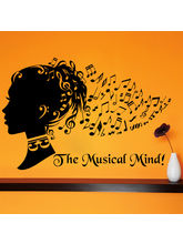 Creative Width The Musical Mind Wall Decal, Multic...