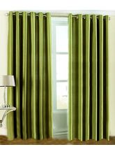 La Elite Eyelet Plain Long Door Curtain - 1 Pc, Gr...