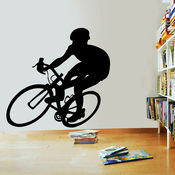 Creative Width Cyclist Wall Decal, multicolor, large