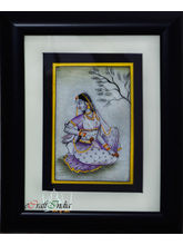 eCraftIndia Gorgeous Ragini Painting with Swan (Wooden Framed), multicolor