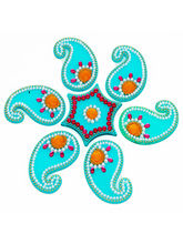 Ghasitaram Gifts Decorative Acrylic Blue Rangoli