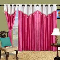 Cortina Plain Drape 5Ft Curtain,  pink