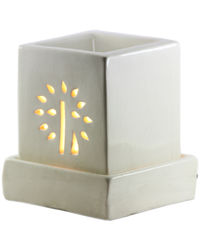 Brahmz Aroma Oil Burner Electric Baby Square, ivory