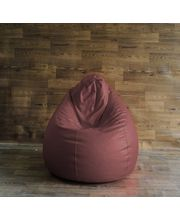 Style Homez Bean Bag Chair - Filled With Beans, Maroon, Xl