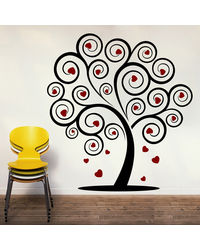 Creative Width Love Tree Wall Decal, multicolor, large