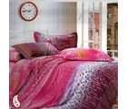 Gradual Leaf And Tiny Floral Prints Pure Cotton Bed Sheet Set BS139113, multicolor