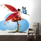 Creative Width Fairy N Mushroom Wall Decal, multicolor, small