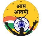 Indian Flag Aam Aadmi Clock, yellow
