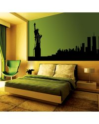 Creative Width Statue Of Liberty Wall Decal, multicolor, small