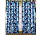 HandloomTrendz Stylish Eyelet Design Door Curtain, blue