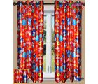 HandloomTrendz Beautiful Angry Bird Print Kids Window Curtain(CnABorange4X5), orange