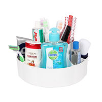 Cipla Plast Bathroom Toothbrush-Toothpaste-Brush-Cosmetics Holder Stand - White,  white