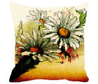 Leaf Designs Sunset Floral Cushion Cover, multicolor