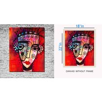 meSleep Canvas painting Lady painting - pc-01-0066, multicolor