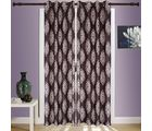 SWHF Printed Curtains Set of 2 Floral, brown and beige
