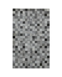 SWHF Large Leather Rug Patch Work,  grey
