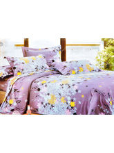La Elite Sparkling Little Floral Print Double Bed Sheet, purple