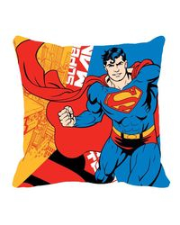 Warner Brother Super Man Cushion Cover 16 x 16 inch,  yellow