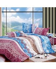Story King Size Sweet Design Double Bed sheet EW1087, multicolor