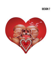 Me Sleep Heart Shape Cushion With Filler, Design7