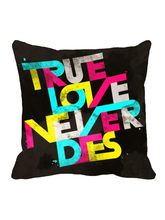 meSleep True Love Valentine Cushion Cover, black