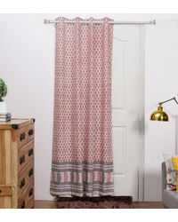 Rang Desi Pink Cotton 84 x 48 Inch Ethnic Door Curtain -,  pink