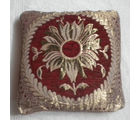 JBG Home Store Velvet Center Flower Design Cushion Covers ( Set of 5), maroon