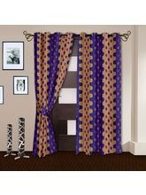 Story At Home Nature 2 Pc Door Curtain, violet