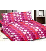 meSleep Dots Bed Sheet 228TC - 502B, pink