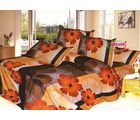 HandloomTrendz 100% Cotton 3D Charming Flower Print Double Bed Sheet (DB1503), brown