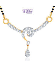 Sukkhi Fabulous CZ Gold And Rhodium Plated Mangalsutra Pendant