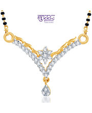 Sukkhi Briliant CZ Gold And Rhodium Plated Mangalsutra Pendant