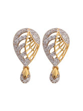 Asure Jewel Fleur Gold Drop Earring