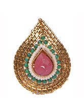 Ratnakar Royal Red Stone Polki Ring
