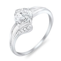 Mahi Rhodium Plated Ultra Chic Ring With CZ Stones for Women FR1100060R, 14