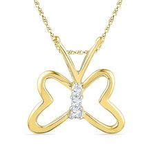 Ishis 18K Gold and Diamond Fashion Pendant-15285, yellow gold