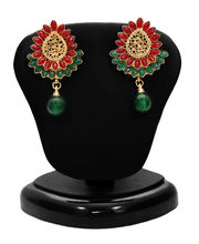 Sukkhi Emerald Ruby Five String Gold Plated Pretty Necklace Set