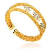 Mahi Gold Plated Ravishing Charm Kada with Crystals For Women BA1100833G