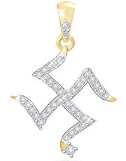Eva Jewels Beautiful` SWASTIK` Shape Pendant