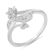 Mahi Rhodium Plated Friendship Ring With CZ Stones for Women FR1100079R, 12