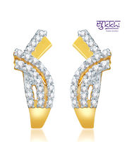 Sukkhi Eye-Catchy Gold And Rhodium Plated CZ Earring