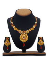 Sv Jewels & Pearls Gold Plated Necklace Set Svj-3168