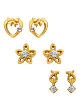 Mahi Combo Of Beautiful Gold Plated Earrings For W...