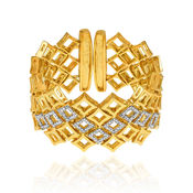 Mahi Gold Plated Eclectic Fashion Kada with Crystals For Women BA1100836G