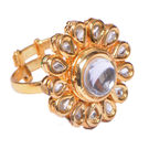 Ratnakar Royal White Kundan Ring