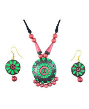 "ARTWOOD"" Enchanted Clay Princess"" 3-piece TerraCotta Jewellery Set"