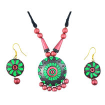 "ARTWOOD"" Enchanted Clay Princess"" 3 piece TerraCotta Jewellery Set"