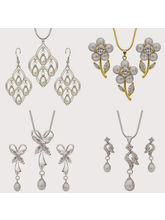 Nisa Pearls Combo Set Of 4 Pendant Sets